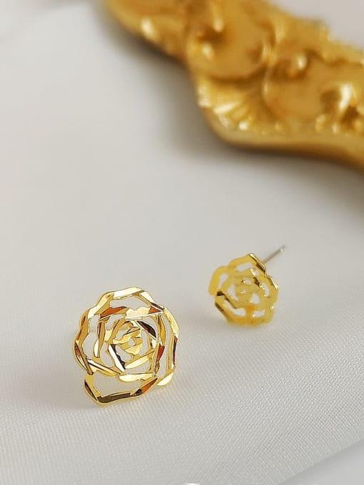 HYACINTH Alloy Gold Geometric Minimalist Single Earring 3
