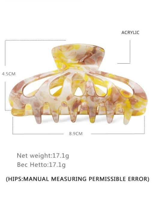 BUENA Acrylic Minimalist Geometric Multi Color Jaw Hair Claw 1