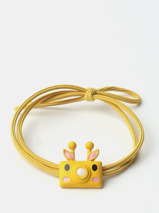 Yellow deer bubble machine Cute cartoon animal hair rope