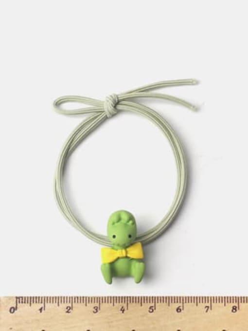 JoChic Alloy Enamel Cute Rabbit With Radish  Multi Color Hair Rope 1