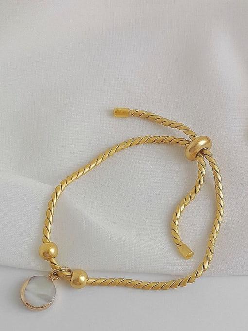 HYACINTH Alloy Shell Gold Geometric Trend Adjustable Bracelet 1
