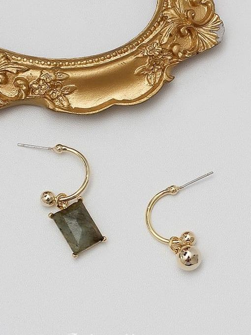 HYACINTH Copper Alloy Gold Geometric Minimalist Drop Earring 3