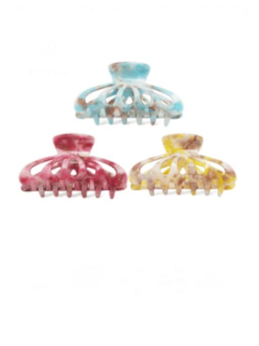 BUENA Acrylic Minimalist Geometric Multi Color Jaw Hair Claw