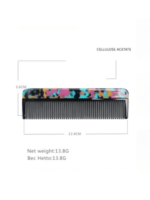 BUENA Cellulose Acetate Minimalist Multi Color Hair Comb 1