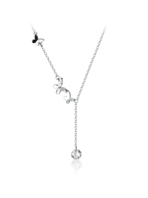 Rosh 925 Sterling Silver Silver Butterfly Minimalist Necklace 4