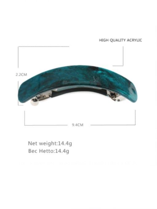 BUENA Alloy Acrylic Minimalist Geometric  Multi Color Hair Barrette 1