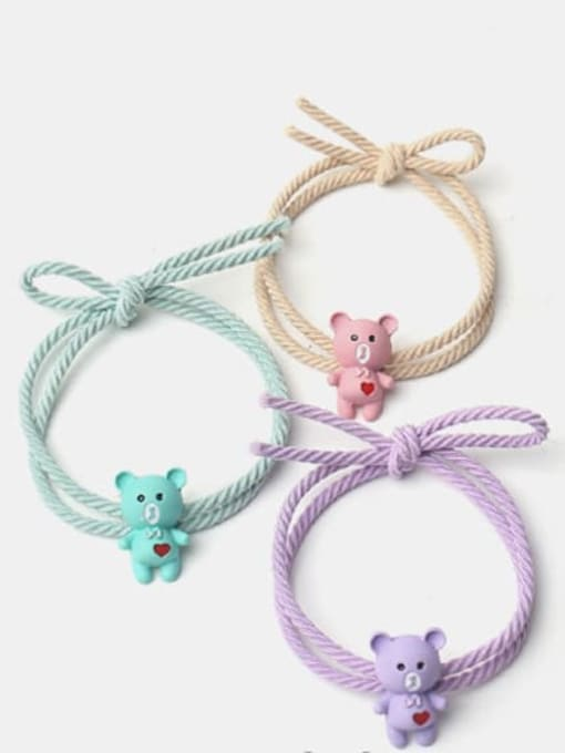 JoChic Alloy Cute Heart  Multi Color Hair Rope 0