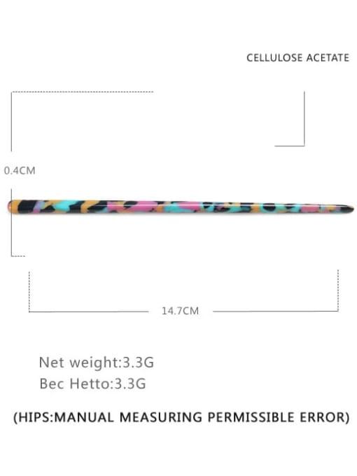 Dazzling color Cellulose Acetate Minimalist Multi Color Hair Stick