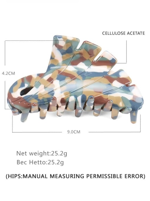 BUENA Cellulose Acetate Minimalist Geometric Jaw Hair Claw 4