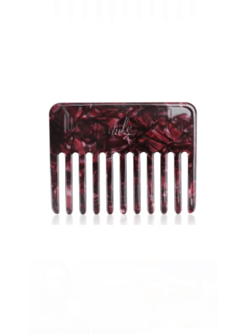 Crimson Cellulose Acetate Minimalist Multi Color Hair Comb