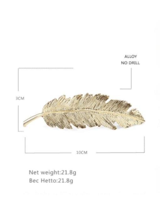 BUENA Alloy  Vintage Hollow Leaf Hair Barrette 1