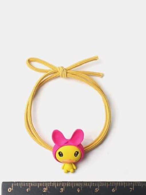 JoChic Alloy Yellow Rope Rose Powder Hair Belt Duck 1