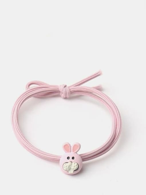 Light pink rabbit Cute Light Pink Rabbit Yellow Duckling Pink Pig Hair Rope
