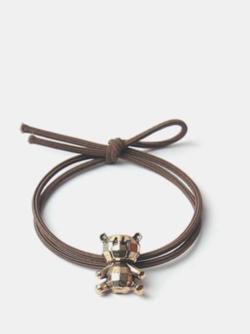Prismatic bear Alloy Cute   Bear Rabbit  Spiral Cattle Hair Rope
