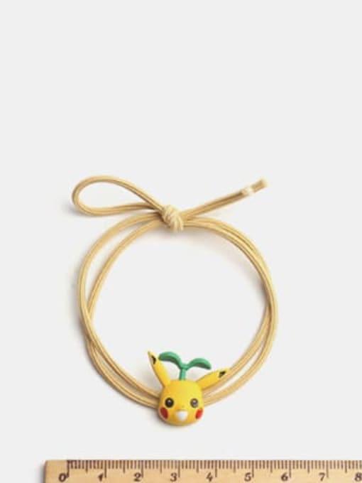 JoChic Alloy Enamel Cute Long grass Cartoon Bear Multi Color Hair Rope 1