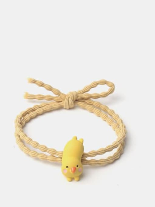 Yellow chicken Alloy Cute Icon  Hair Rope