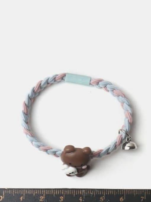 JoChic Cute Rabbit Resin Multi Color Hair Rope 1