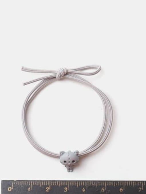 JoChic Alloy Cute Beige Bear Grey Kitten Multi Color Hair Rope 2