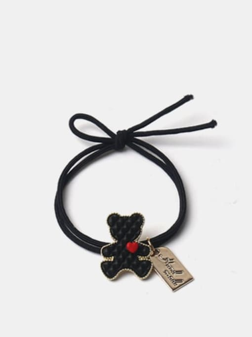 Black Alloy  Cute Bear Multi Color Hair Rope