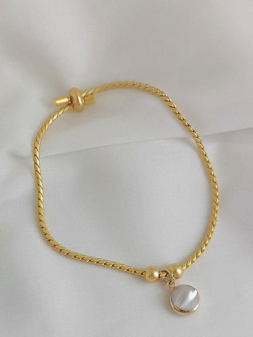 HYACINTH Alloy Shell Gold Geometric Trend Adjustable Bracelet 2