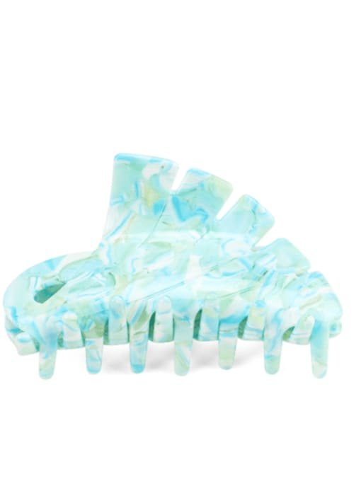 Ocean blue Cellulose Acetate Minimalist Geometric Jaw Hair Claw
