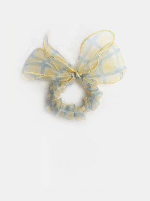 Yellow Plaid Bow Yarn Minimalist Bowknot Hair Barrette