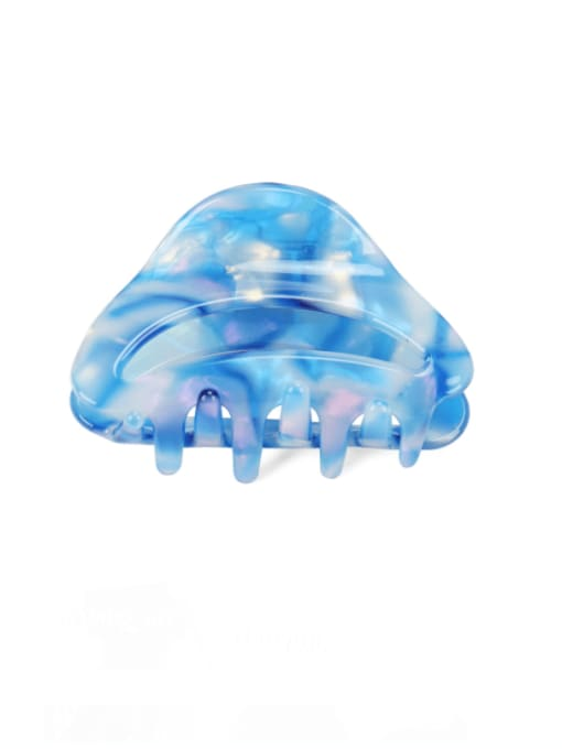blue Cellulose Acetate Minimalist Geometric Multi Color Jaw Hair Claw