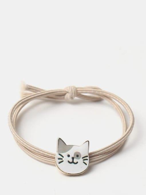 Grey eared cat Cute Black Cat Hair Rope
