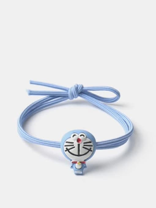 JoChic Alloy Enamel Cute Blue Big Head Doraemon Hair Rope 0