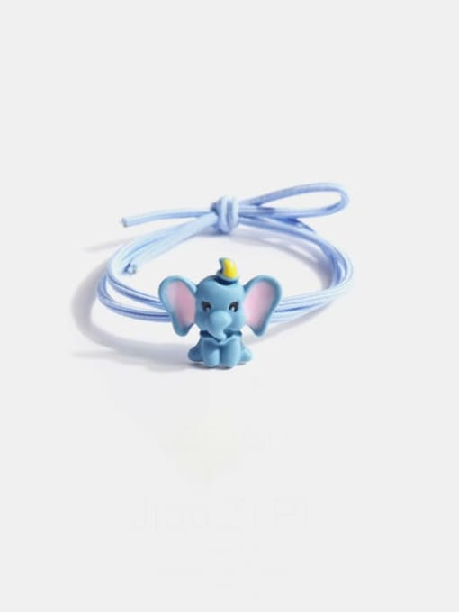 JoChic Alloy  Simple Cute Small Flying Elephant Multi Color Hair Rope 0