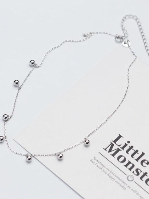 Rosh 925 Sterling Silver Silver Minimalist Choker Necklace 2