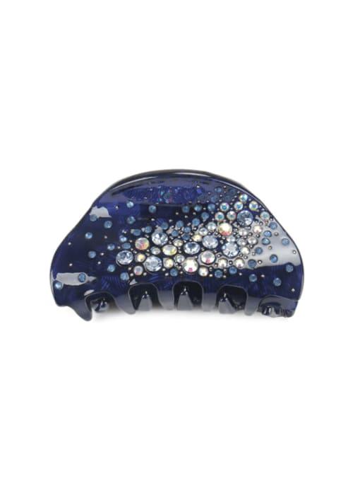 navy blue Cellulose Acetate Minimalist Geometric Rhinestone Multi Color Jaw Hair Claw