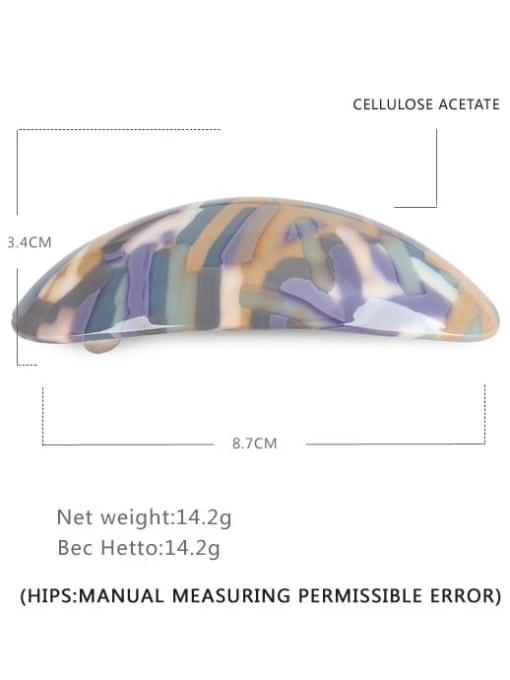 BUENA Alloy Cellulose Acetate Minimalist Geometric  Multi Color Hair Barrette 1