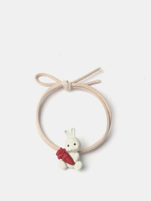 Rabbit with radish Alloy Enamel Cute Rabbit With Radish  Multi Color Hair Rope