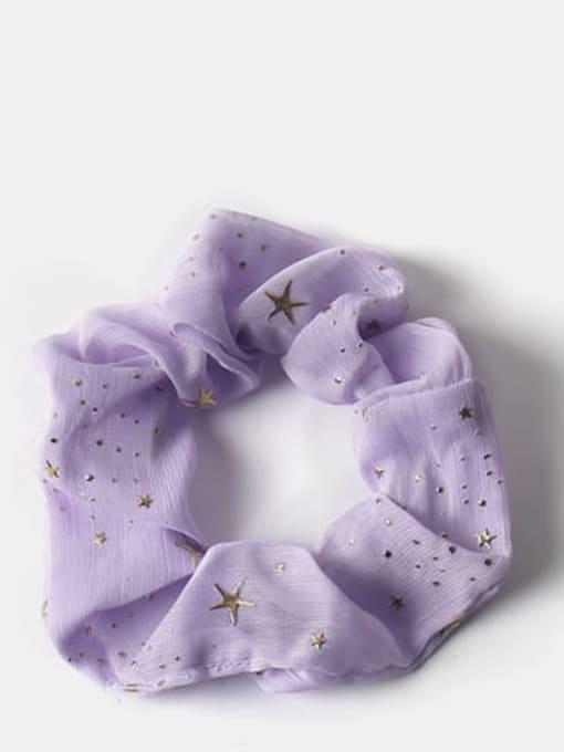 purple Fabric Minimalist Star Hair Barrette