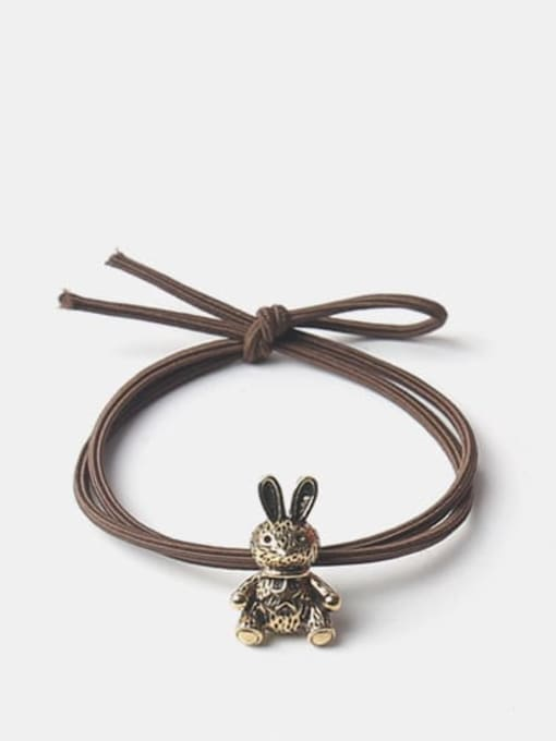 Five pointed star rabbit Alloy Cute   Bear Rabbit  Spiral Cattle Hair Rope