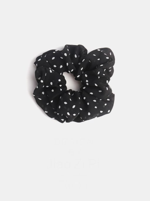 black Minimalist Fabric  Hair Barrette