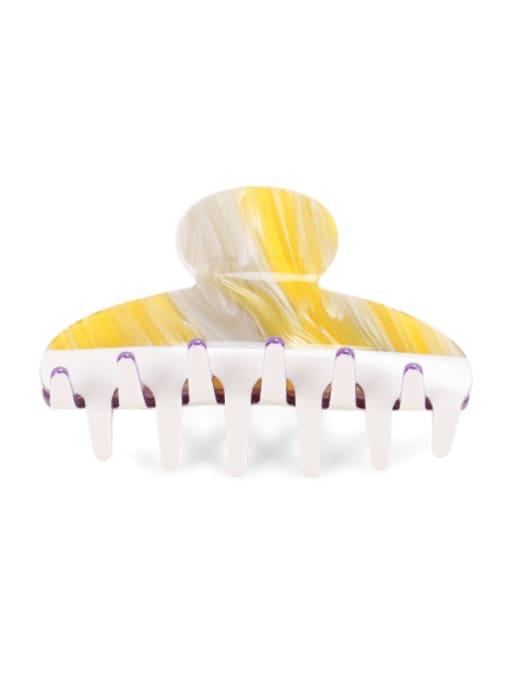 5 Cellulose Acetate Minimalist Geometric Multi Color Jaw Hair Claw