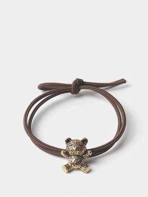 The bear Alloy Cute   Bear Rabbit  Spiral Cattle Hair Rope