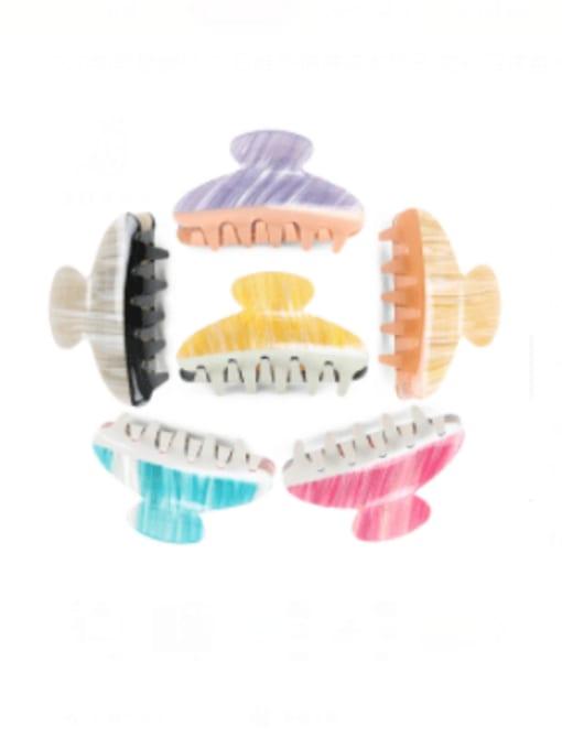 BUENA Cellulose Acetate Minimalist Geometric Multi Color Jaw Hair Claw