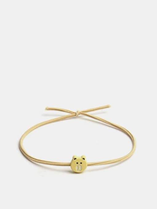 Mini Bear yellow Alloy Cute Bear  Multi Color Hair Rope