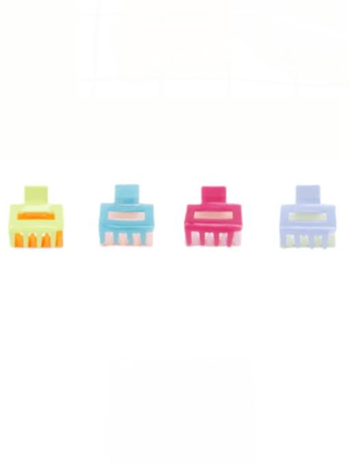BUENA Cellulose Acetate Minimalist Geometric Multi Color Jaw Hair Claw 0