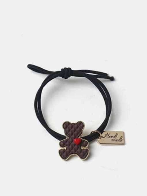 Brown Alloy  Cute Bear Multi Color Hair Rope