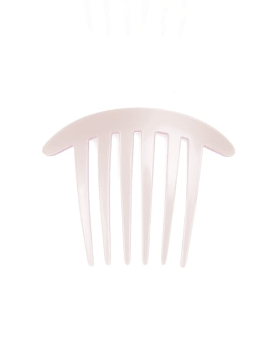 Pink Cellulose Acetate Minimalist Geometric Multi Color Hair Comb