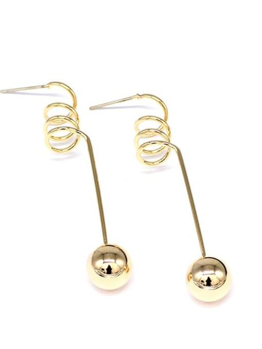 HYACINTH Copper Alloy Gold Geometric Minimalist Earring 4