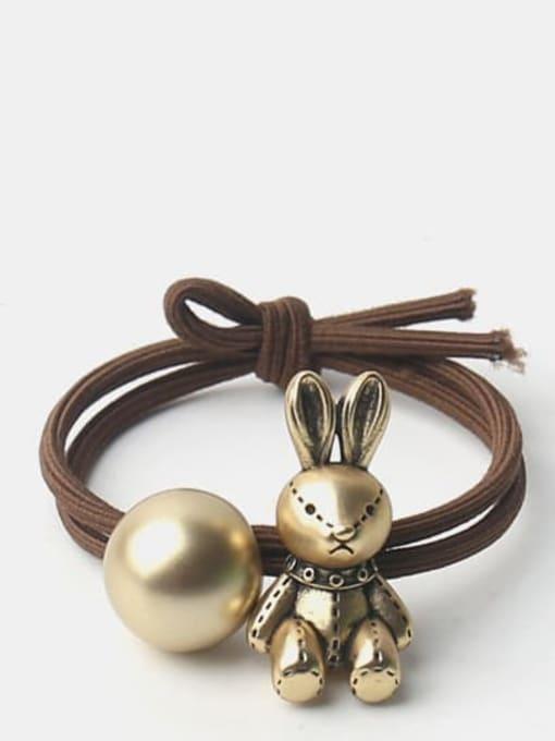 Golden rabbit Cute Golden Bear Golden Rabbit Hair Rope