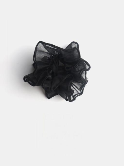 Black Yarn Minimalist Double-Layer Cuffed Large Intestine Ring