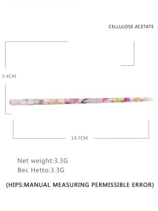 Broken flower color Cellulose Acetate Minimalist Multi Color Hair Stick