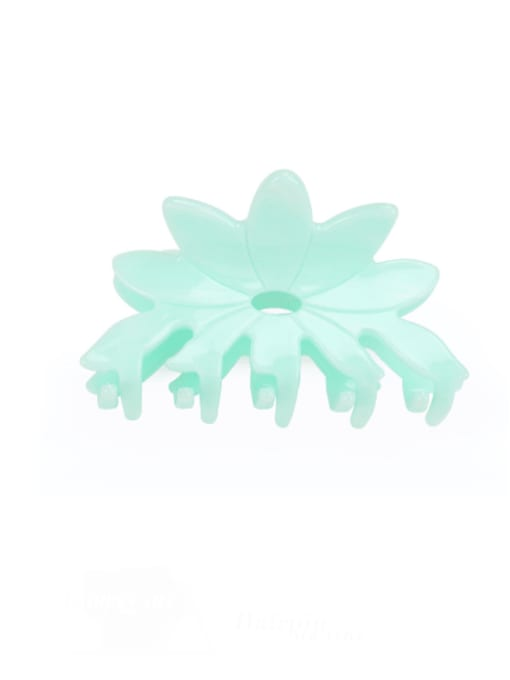 Solid green Cellulose Acetate Minimalist Flower Multi Color Jaw Hair Claw