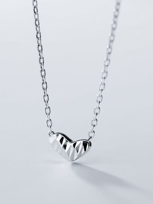 Rosh 925 Sterling Silver Gold Heart Minimalist Necklace 3